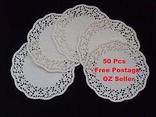 """50 pcs White Lace Paper Doilies Round Size 4.5"""""""