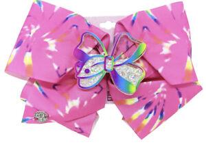 """Jojo Siwa Girls Stripe Hair Bow Pink Butterfly 6""""X5"""""""