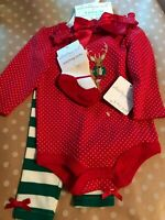 NWT Infant/Baby Starting Out Sz 6 Mo. Christmas Outfit 4pc
