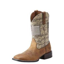 "Ariat 10023359 Sport Patriot 11"" Bandeira Americana Sage Marpat Camo botas de cowboy"