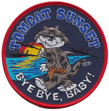 United States Navy USN Grumman F-14 Tomcat 'Bye Bye Baby!' Embroidered Patch