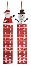 Christmas Santa Snowman 100cm Large Fabric Hanging Felt Advent Calendar 2 Styles