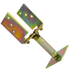 1 U Pfostenträger gelb verzinkt aufdübelbar höhen/seitenverstellbar 70-160mm GAH