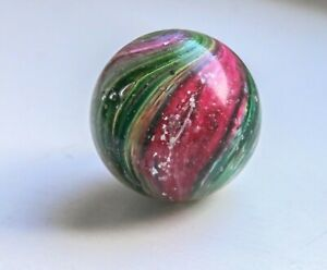 Hand made antique German Onion Marble with Mica