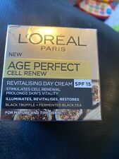 L'Oreal Age Perfect Cell Renew Revitalising SPF 15 Day Cream 50ml New And Sealed
