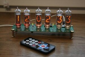 Nixie tube clock with IN-14 tubes Vintage Desk Table Remote Auto Temperature