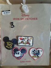 Disney Mickey & Minnie Mouse Iron On Patches By Junk Food - 90th Anniversary