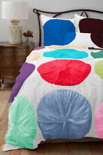 Egyptian Cotton 800TC Multicolor Flower Ruffle Duvet Cover Set All Size & Color