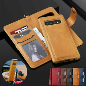 F Samsung Note 20 Ultra S20 S10 S9 Plus Case Removable Leather Flip Wallet Cover