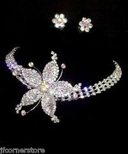 BRIDAL/WEDDING  Crystal/Diamonte Necklace Set **134**