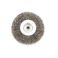 3 6mm Arbor Stainless-Steel Wire Wheel Brush Fit For Bench Grinder Abrasive New
