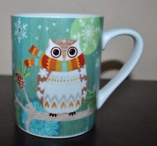 NEW MADISON STUDIO Christmas  MUG OWL Dressed Bird Scarf CUTE!!!