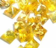 NATURAL PRINCESS-CUT GOLDEN YELLOW SAPPHIRE UNHEATED LOOSE GEMSTONES  2 PIECES