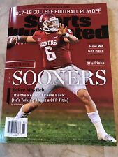 BAKER MAYFIELD OKLAHOMA SOONERS 2017 ROSE BOWL SPORTS ILLUSTRATED NO LABEL