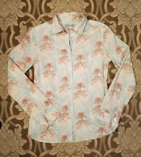 vtg Paul+Joe long sleeve button down shirt blouse rose bush forest trees 1 S 6