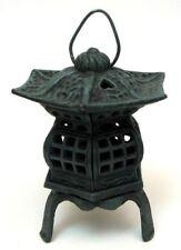 Cast Iron Footed Pagoda Lantern Rustic Look
