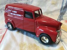 ERTL Chevy Panel Truck Bank With Key 1:25 Goodyear Diecast Toys Red Chevrolet