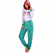 Ariel Little Mermaid Disney One Piece Union Suit Onesie Pajamas SZ 2X Womens