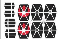 1/144 waterslide decals bandai star wars TIE Advance vehicle model 007