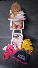 Lot Corolle poupée chaise haute transformable doudou Vêtements TBE