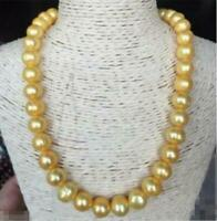 """20""""  baroque 11-12MM AAA SOUTH SEA gold PEARL NECKLACE 14K GOLD CLASP"""