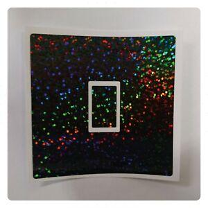 Glitter Effect UK Light Switch Stickers, Living Room Bedroom Nursery Decor