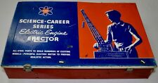 VINTAGE A.C.GILBERT SCIENCE CAREER SERIES ERECTOR SET# 10057 w/electric motor