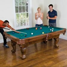 Pool Table Billiard Game Traditional Drop Pocket Dining Cue Rack Ball Chalk Home