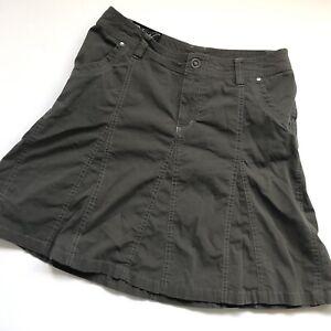 Kuhl Size 2 Dark Gray Charcoal Short Skirt Flare Vintage? Shorts Underneath Mini