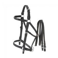 Aussie Black Leather Bridle/Halter Combination Horse Tack 73-9802