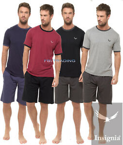Mens Pyjamas Shorts Set Short sleeve Night Pj Sleepwear Loungewear S TO XXXXXL