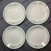 "(4) Corelle ROSE MARIE 6 3/4"" Bread , Dessert Plates - Great Used VTG Condition"