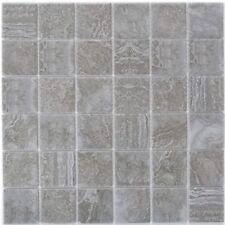 Keramikmosaik dunkelgrau Fliesenspiegel Dusche Küche Wand WC 16-0208 | 10 Matten