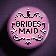 BRIDESMAID Pin Badge Button - Wedding Outfit Girls Dress Children Gift Planning