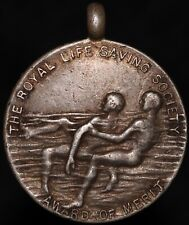 More details for 1929 | the royal life saving society 'award of merit' medal | silver | km coins