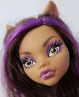 MONSTER HIGH DOLL SLEEPOVER CLAWDEEN WOLF REPLACEMENT HEAD ONLY FOR OOAK CUSTOM