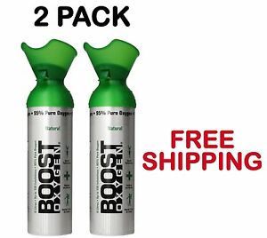 2 Pack Boost Oxygen Bar In A Can Oxygen Therapy Energy Large Cans Free Shipping