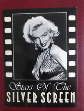 80s MARILYN MONROE POSTCARD 1950s Stars of Silver Screen 53 in gold dress