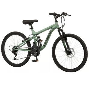 "Mongoose 24"" Major Mountain Bike, Green, In Hand! Ships Fast!"