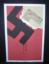 SCHLINDER'S LIST Cuban Silkscreen Tribute Poster for Spielberg Movie // CUBA ART
