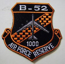 B-52 AIR FORCE RESERVE 1000 HOURS PATCH FULL COLOR:GA12-4