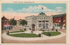 Center Square in Gettysburg PA Postcard