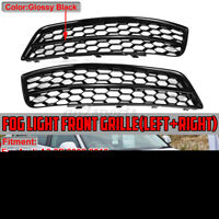 HONEYCOMB Right + Left Bumper Fog Light Grill For Audi A3 8P 2009-2013 Black HL