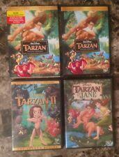 Tarzan Trilogy DVD Lot Complete Set Special Edition w Slipcover II & Jane Disney
