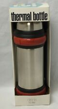 Thermal Bottle 1 Liter The Cellar Thermos Hot Cold Stainless Steel Handle Strap