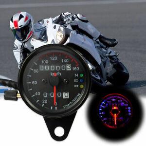 Motorcycle Motorbike Digital LCD Tachometer Speedometer Odometer Gauge Universal