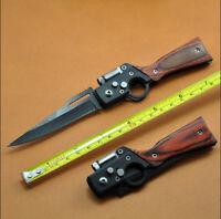 AK-47 Mini Assisted Opening Knife Tactical Folding Pocket Saber with LED Light