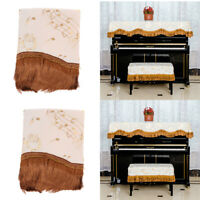 Dustproof Piano Cover Cloth+Piano Stool Chair Bench Cover for Upright Piano