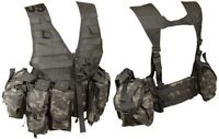 LIGHTWEIGHT MOLLE II ACU FLC ADJUSTABLE FIGHTING LOAD CARRIER W/ POUCHES JJ 951