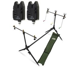 Carp Fishing Pod & Alarms With Swingers 2 Bite Alarms, 3 Rod Rests & Bag NGT